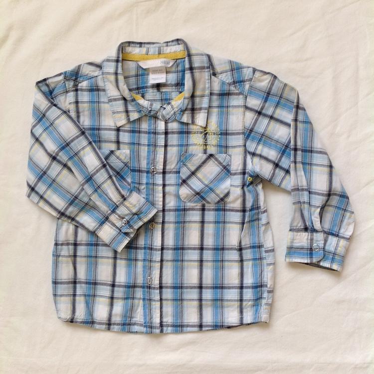 Blårutig skjorta stl 86