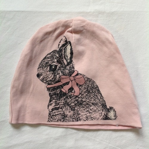 Rosa mössa kanin stl 48/50