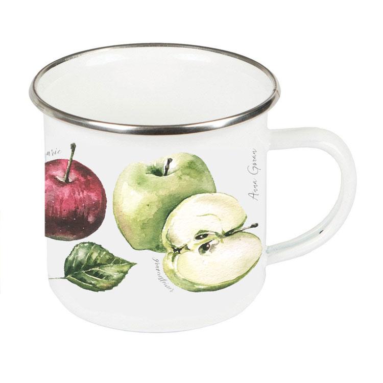 Emaljmugg Äpplen