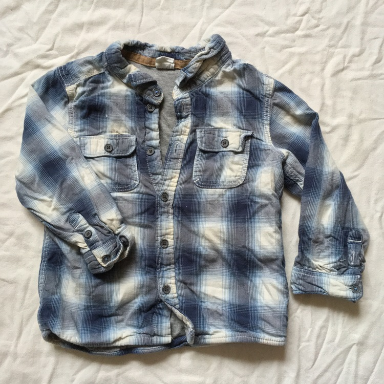 Blårutig skjorta stl 92