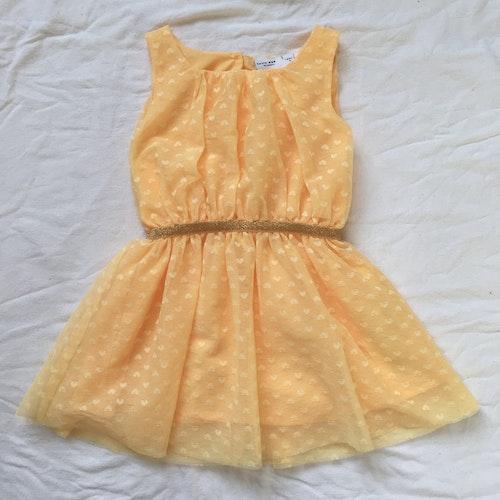 Gul klänning stl 86