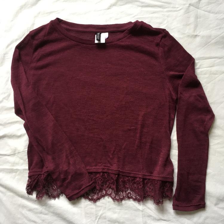 Vinröd tröja stl L