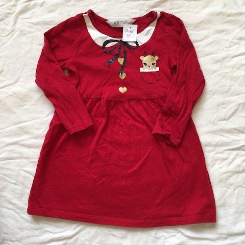 Röd klänning stl 92