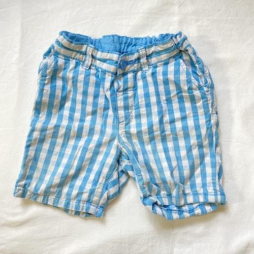 Blårutiga shorts stl 80
