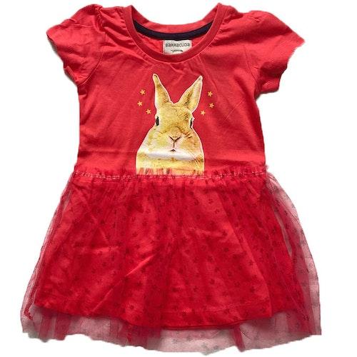Röd klänning stl 86-116
