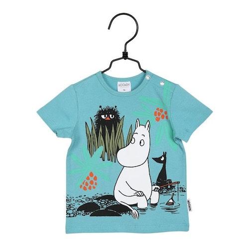 Blå t-shirt stl 62-80