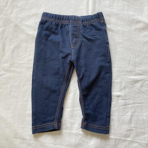 Blå jeansleggings stl 68