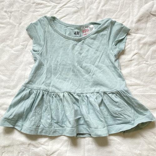 Mintblå klänning stl 56