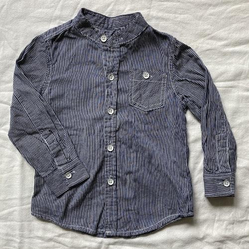 Blårandig skjorta stl 80