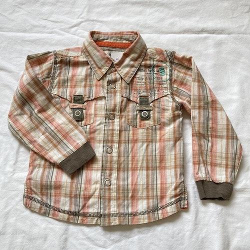 Orangerutig skjorta stl 80