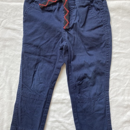 Blå byxor stl 86