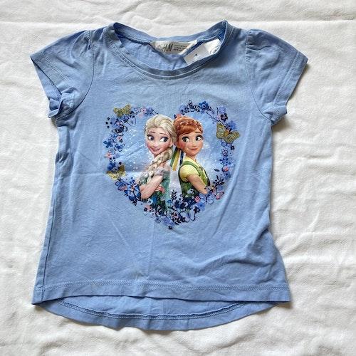 Blå t-shirt Frost stl 92