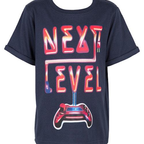 Mörkblå t-shirt stl 86-128