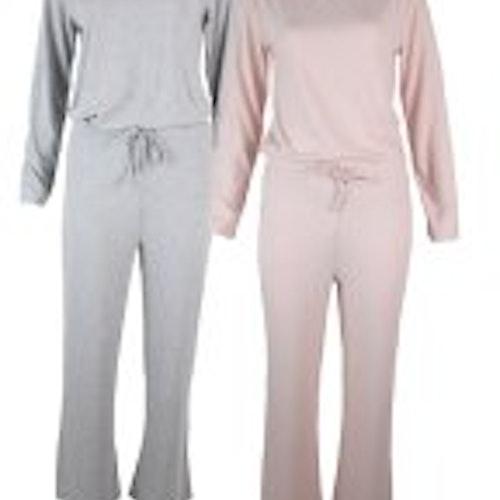 Grå pyjamas stl S-2XL