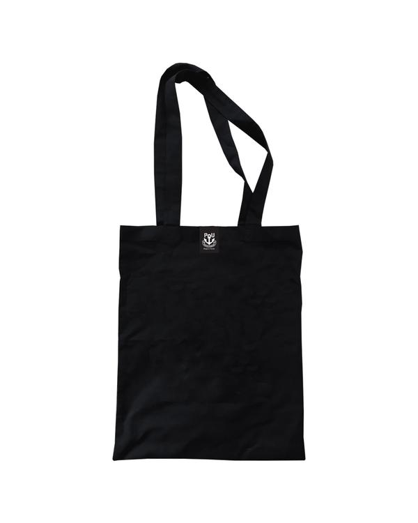 Franky väska svart med vitt tryck