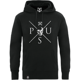 Jason hoodie svart med vitt tryck