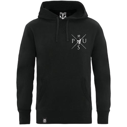 Freddie hoodie svart med vitt tryck
