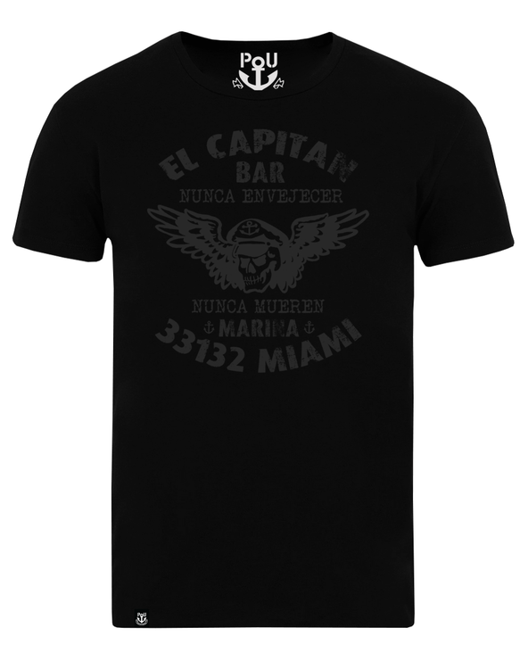 El capitan bar t-shirt svart