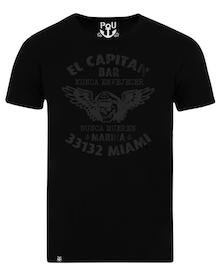 El capitan bar t-shirt svart