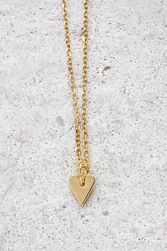 Halsband Hjärta guld
