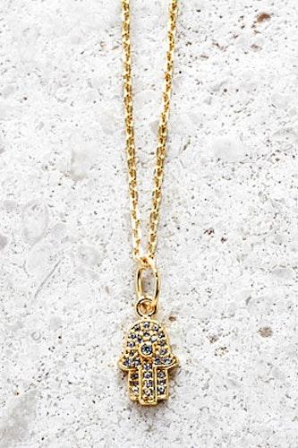 Halsband Fatimas Hand guld