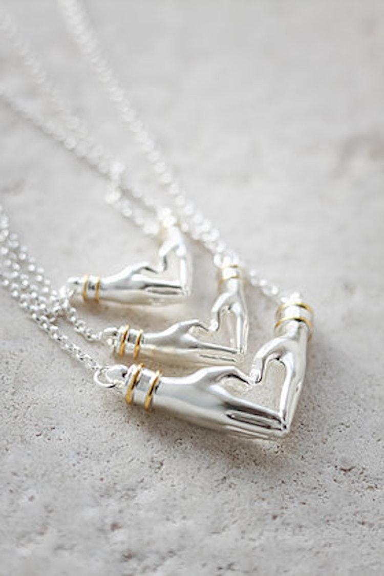 My Heart kort kedja silver