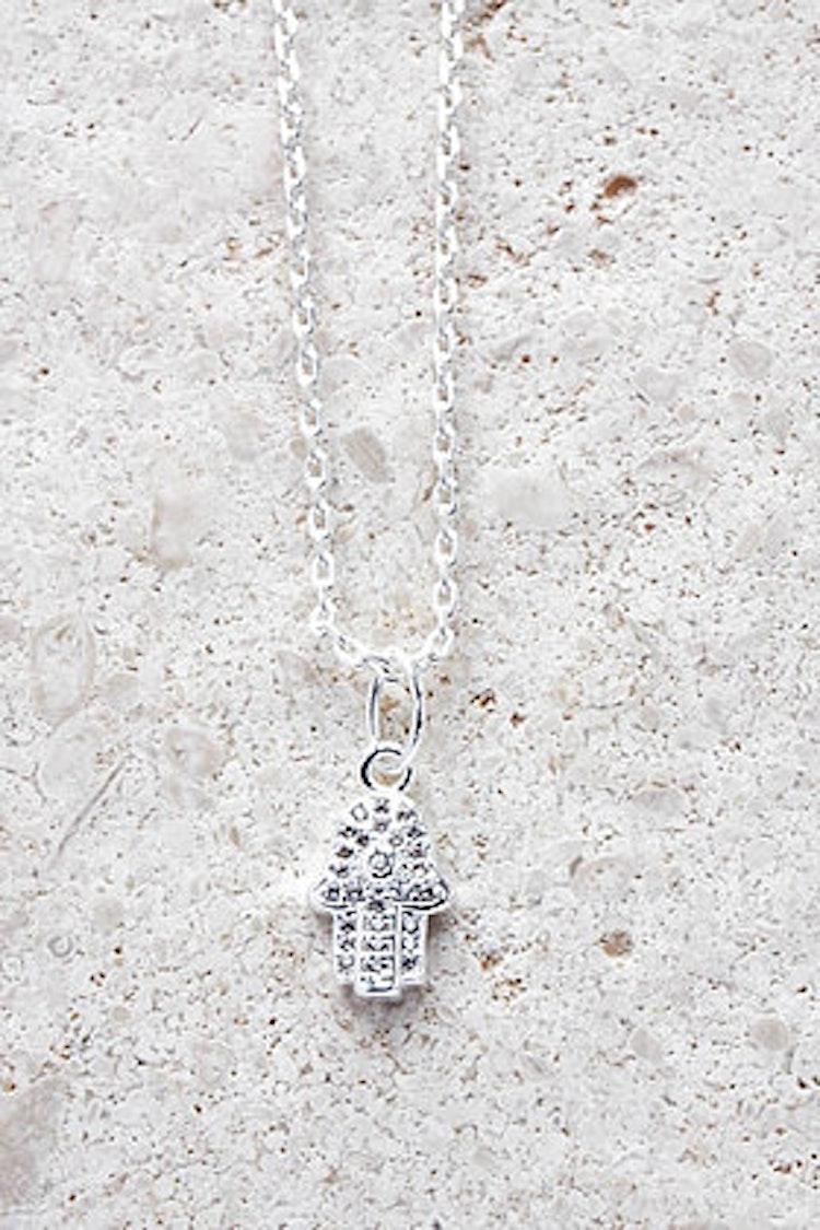 Halsband Fatimas Hand silver