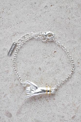 Hang Loose armband silver