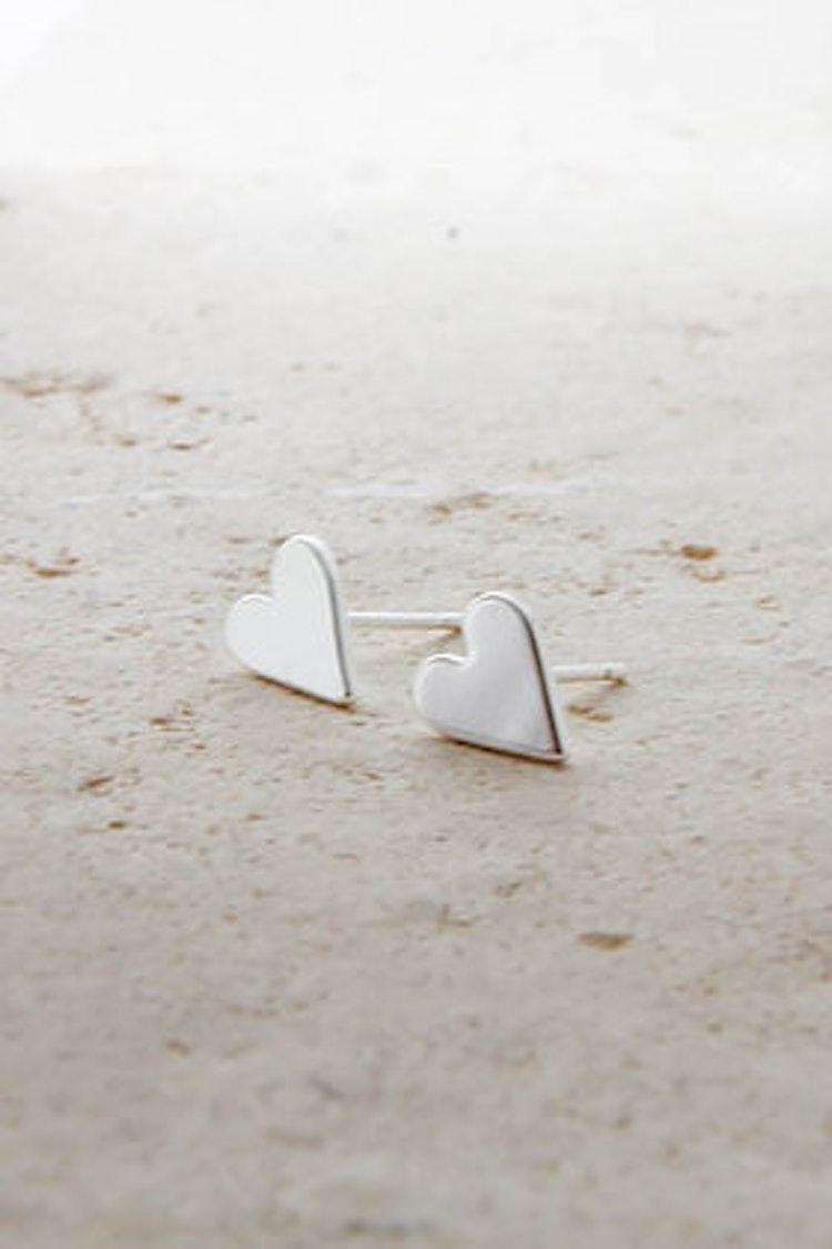 Örhänge Hjärta silver