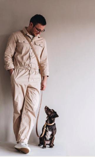 hundkoppel i läder