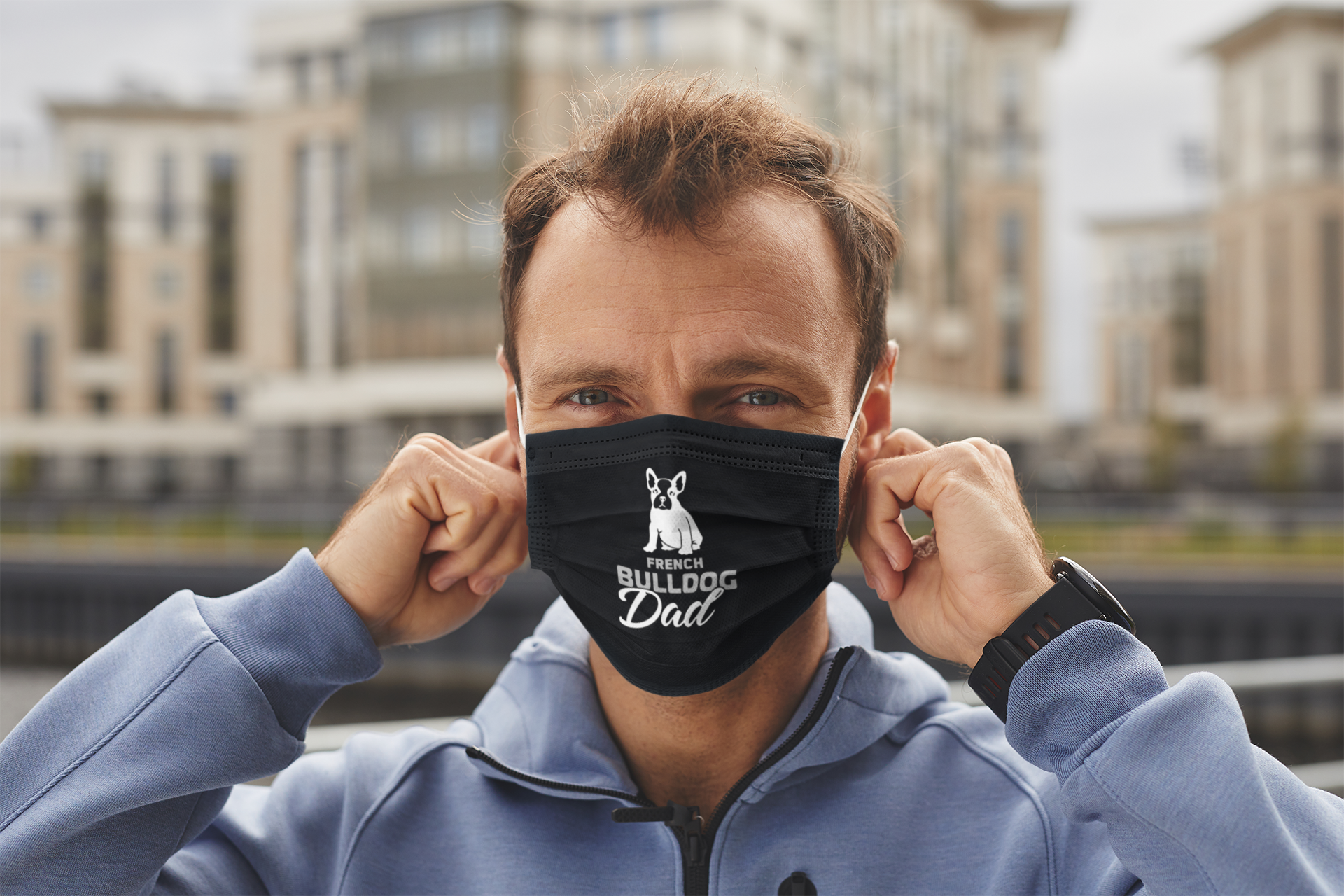 French Bulldog Face Mask - Statements Clothing