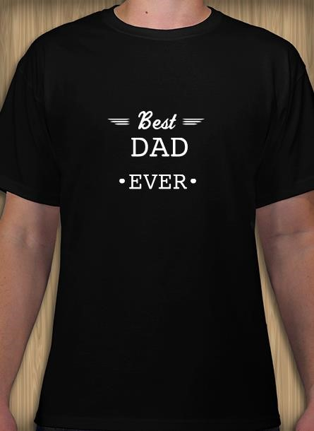 Tshirt Best Dad-Svart Tshirt Herr