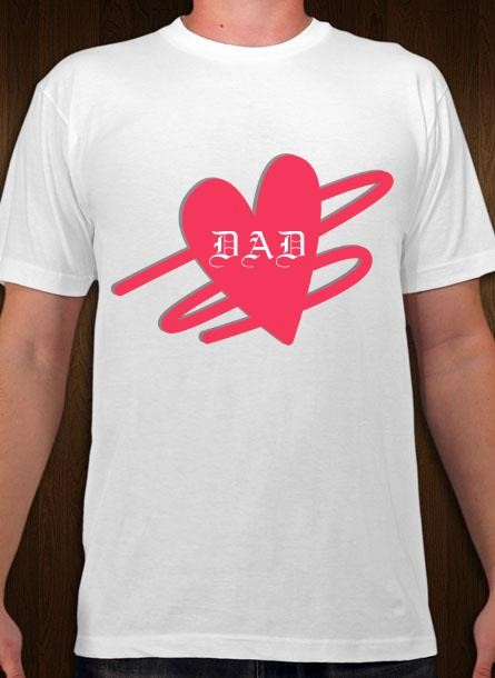 Tshirt Dad-Vit Tshirt Herr