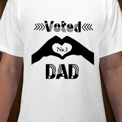 Voted Dad Nr1 T-Shirt Herr
