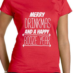 Merry Drinkmas T-Shirt Dam