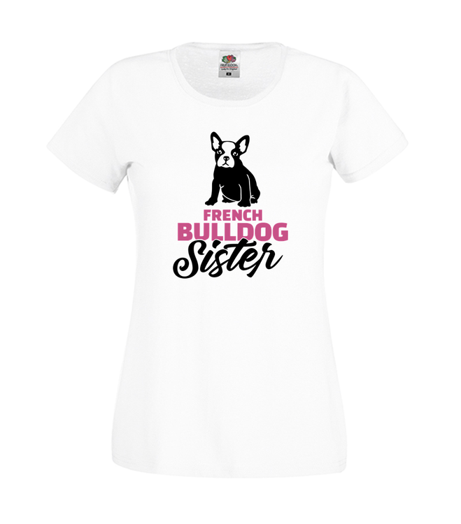 Kopia Fransk Bulldog Sister T-Shirt Svart/Vit