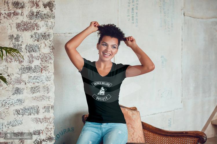 French Bulldog Society T-Shirt Dam