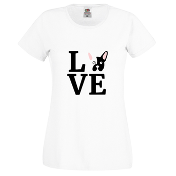 Fransk Bulldog Love T-Shirt Dam