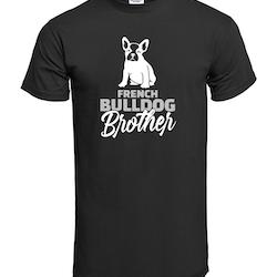 Fransk Bulldog Brother T-Shirt Herr