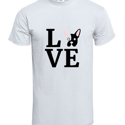 Fransk Bulldog Love T-Shirt Herr