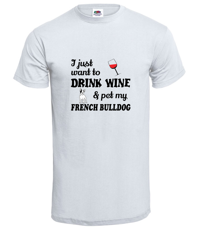 Fransk Bulldog Chillin With My Friend T-Shirt Herr