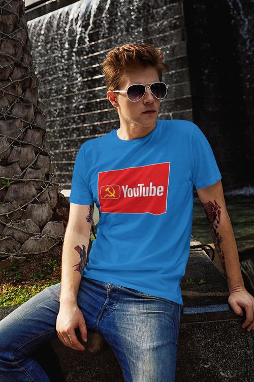 Tshirt med tryck Youtube. Tshirt anti youtube