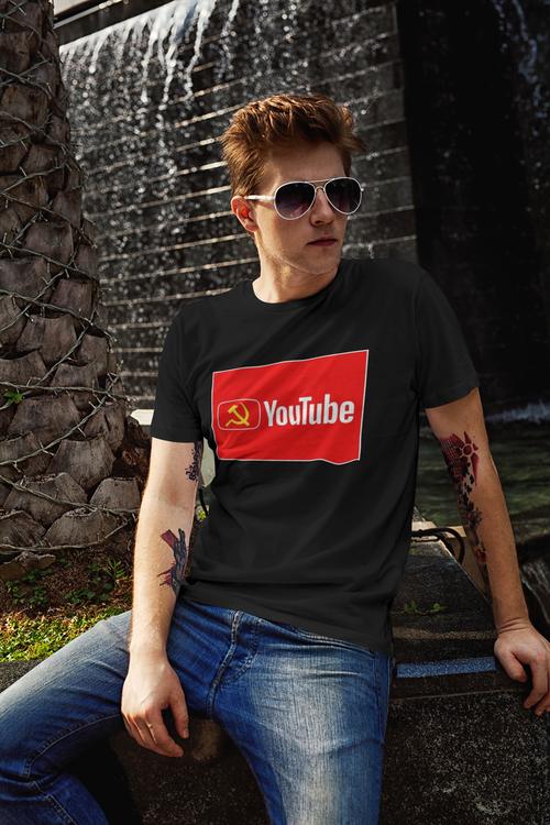 Tshirt med tryck Youtube. Tshirt anti youtube. Big Tech, Tshirt Print Men