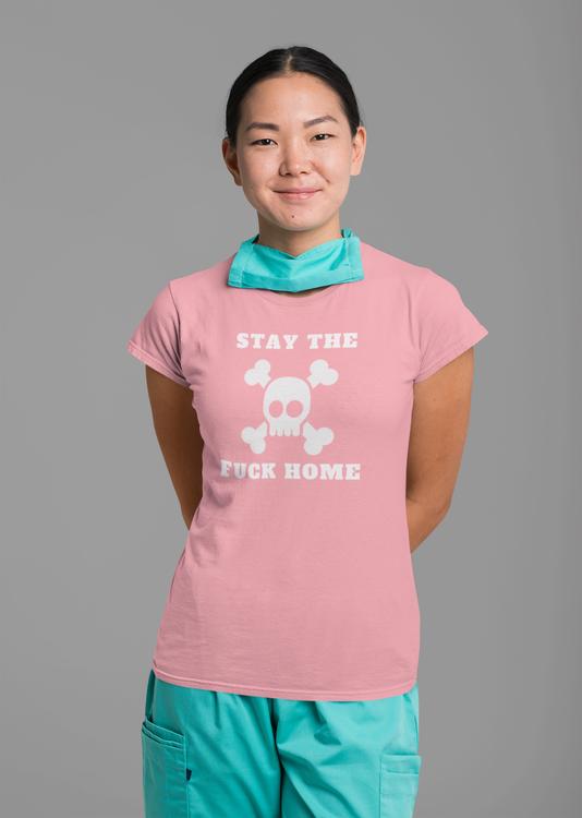 Tshirt med tryck,Corona Merch Stay Home T-Shirt