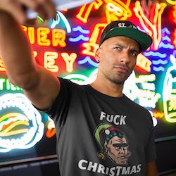 F#@k  Christmas T-Shirt Herr