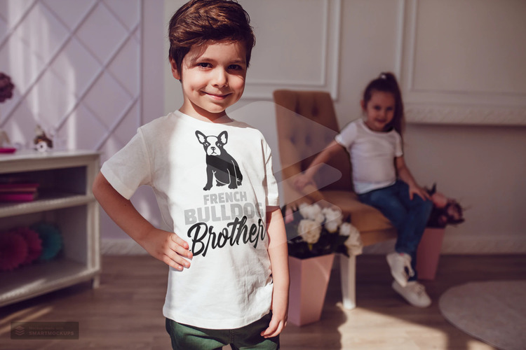 Fransk Bulldog Tshirt Barn, French Bulldog TShirt children