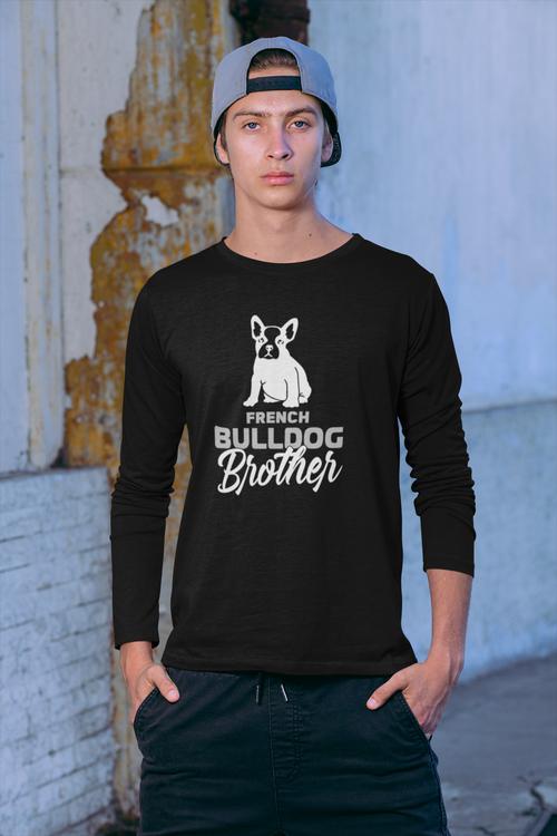 Fransk Bulldog Long Sleeve, French Bulldog Long Sleeve Men