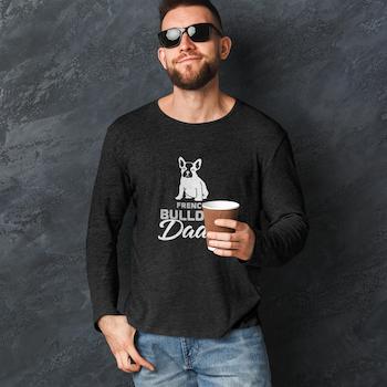 French Bulldog Dad Long Sleeve T-Shirt Herr