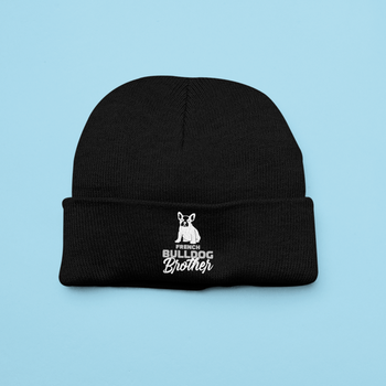 French Bulldog Brother Beanie One Size