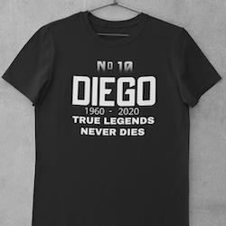 Diego-Legends Never Dies . T-Shirt Herr
